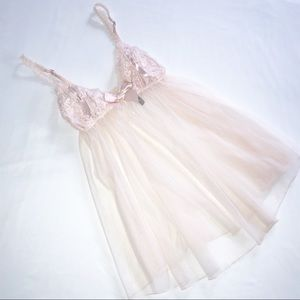 Victoria's Secret Babydoll Mesh Light Pink Nightie